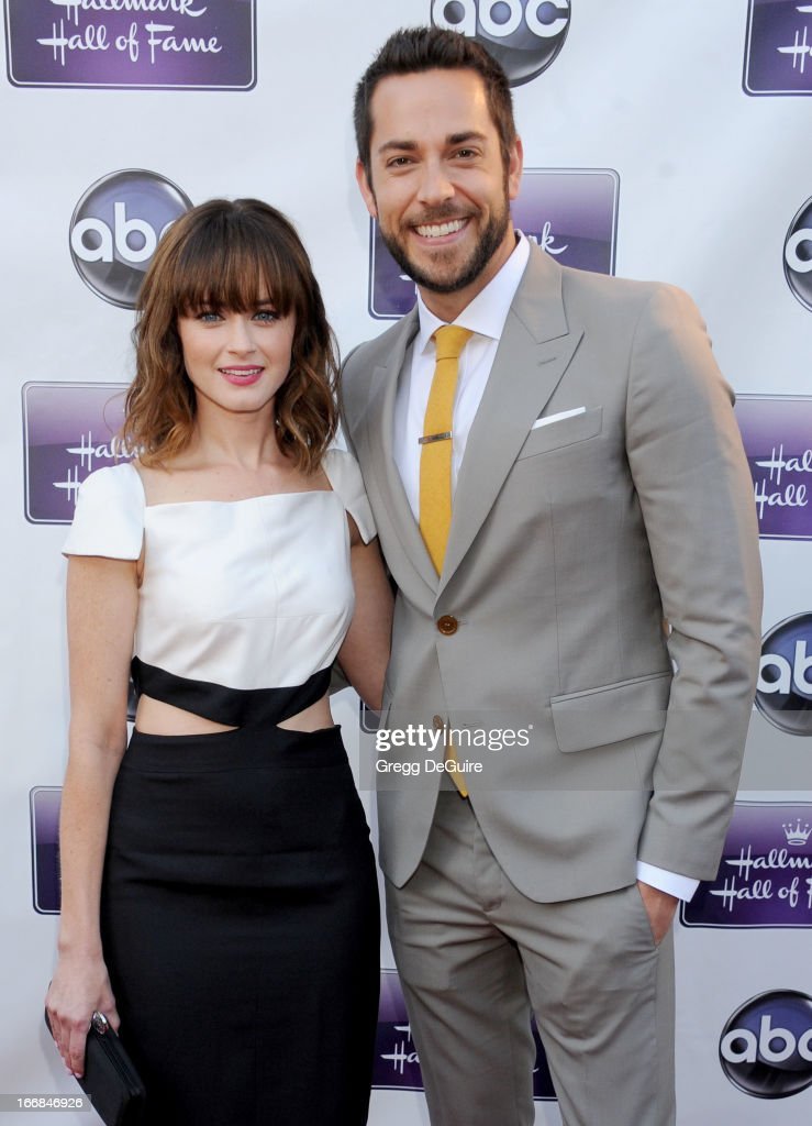 Actors <a gi-track='captionPersonalityLinkClicked' href=/galleries/search?phrase=Alexis+Bledel&family=editorial&specificpeople=206123 ng-click='$event.stopPropagation()'>Alexis Bledel</a> and <a gi-track='captionPersonalityLinkClicked' href=/galleries/search?phrase=Zachary+Levi&family=editorial&specificpeople=242766 ng-click='$event.stopPropagation()'>Zachary Levi</a> arrive at Disney ABC Television and the Hallmark Hall Of Fame's premiere of 'Remembering Sunday' at Fox Studio Lot on April 17, 2013 in Century City, California.