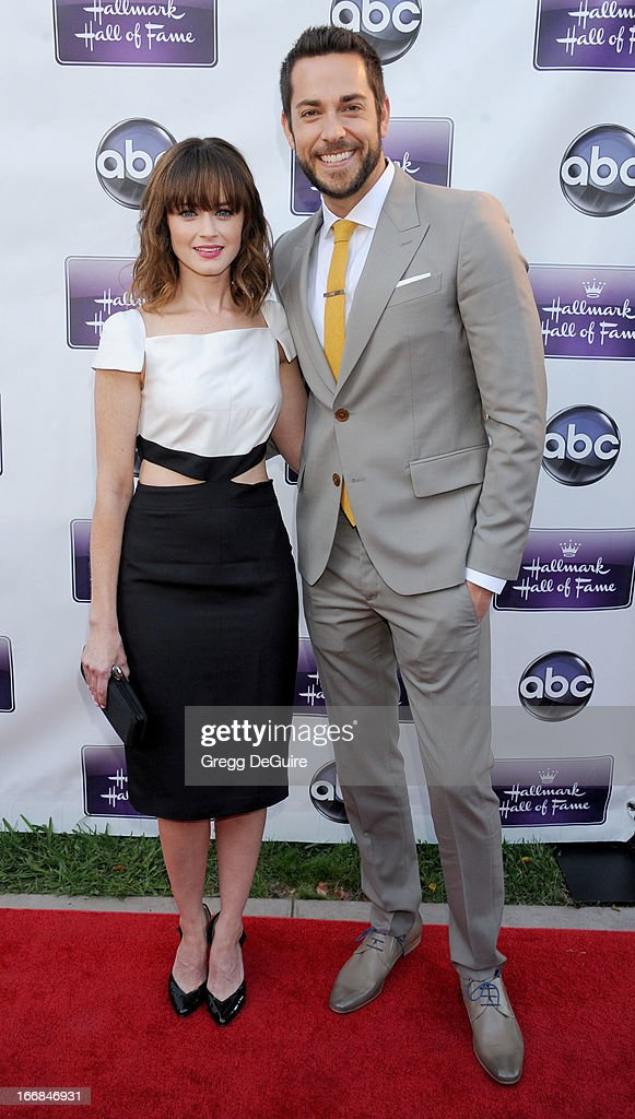 Actors Alexis Bledel and Zachary Levi arrive at Disney ABC Television and the Hallmark Hall Of Fame's premiere of 'Remembering Sunday' at Fox Studio Lot on April 17, 2013 in Century City, California.