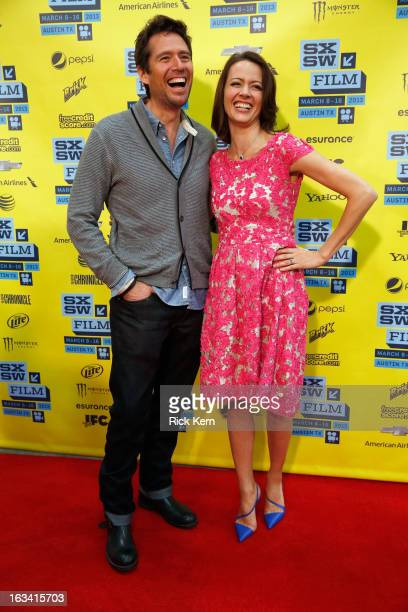 Actors Alexis Denisof and Amy Acker arrive at the screening of 'Much Ado About Nothing' during the 2013 SXSW Music Film Interactive Festival at...