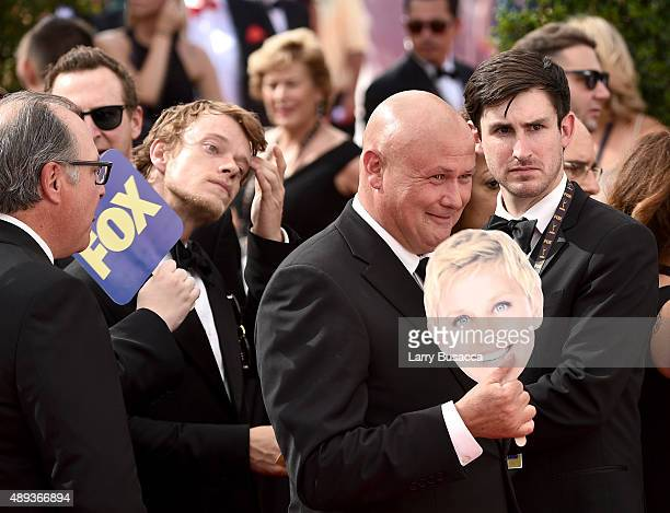 Actors Alfie Allen and Conleth Hill attend the 67th Annual Primetime Emmy Awards at Microsoft Theater on September 20 2015 in Los Angeles California