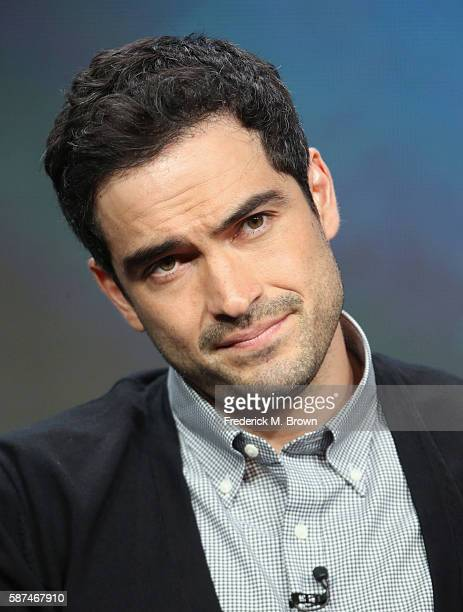 Actors Alfonso Herrera speaks onstage at 'The Exorcist' panel discussion during the FOX portion of the 2016 Television Critics Association Summer...
