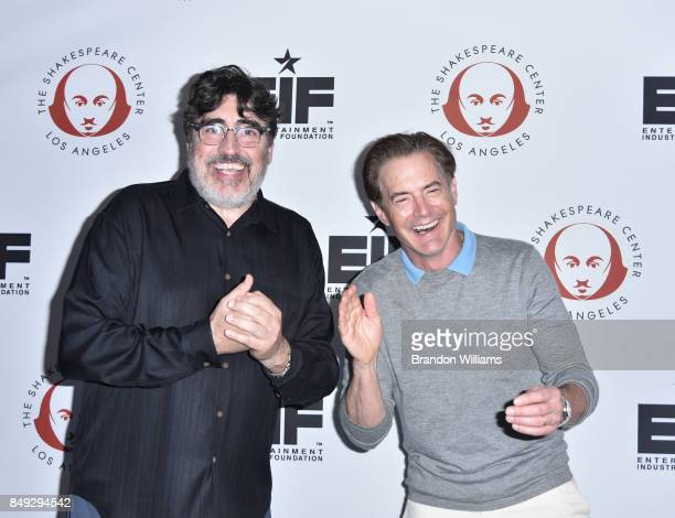 Actors Alfred Molina and Kyle MacLachlan attends the 27th Annual 'Simply Shakespeare' benefit at Freud Playhouse UCLA on September 18 2017 in...