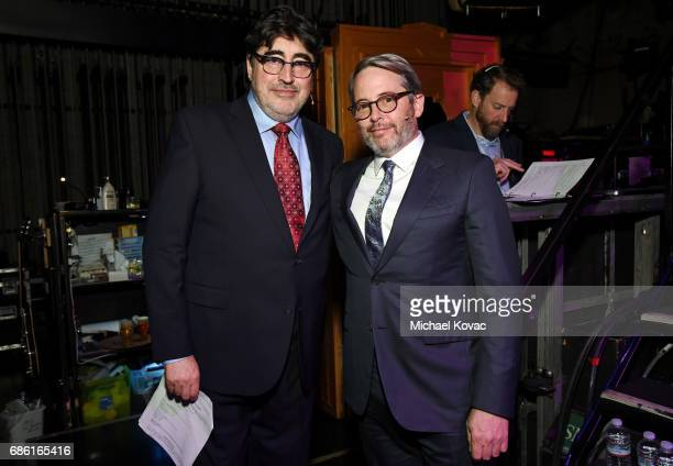 Actors Alfred Molina and Matthew Broderick at the Center Theatre Group 50th Anniversary Celebration at Ahmanson Theatre on May 20 2017 in Los Angeles...