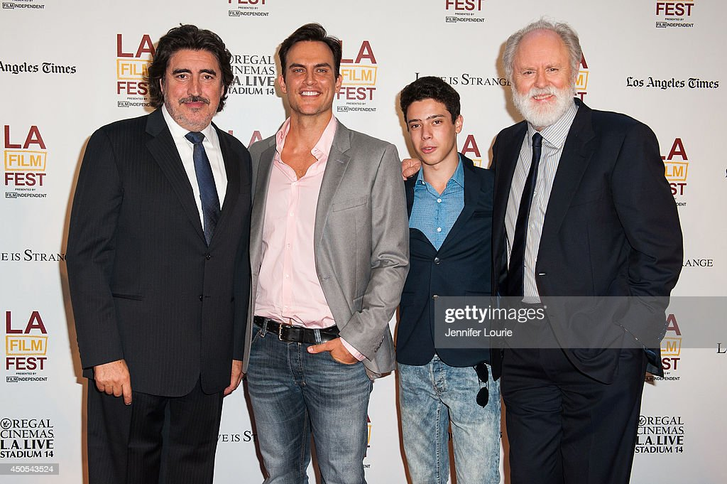 Actors Alfred Molina Cheyenne Jackson John Lithgow and Eric Tabach arrive at the 2014 Los Angeles Film Festival presents 'Love Is Strange' hosted at...