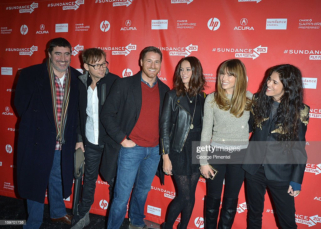 Actors Alfred Molina, Jimmi Simpson, Sam Jaeger, Kaya Scodelario and Jessica Biel and director Francesca Gregorini attend the 'Emanuel and The Truth About Fishes' Premiere during the 2013 Sundance Film Festival at Library Center Theater on January 18, 2013 in Park City, Utah.