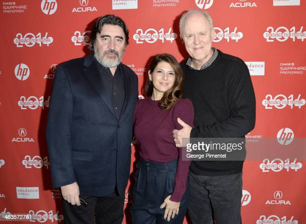 Actors Alfred Molina Marisa Tomei and John Lithgow attend the premiere of 'Love Is Strange' at the Eccles Center Theatre during the 2014 Sundance...