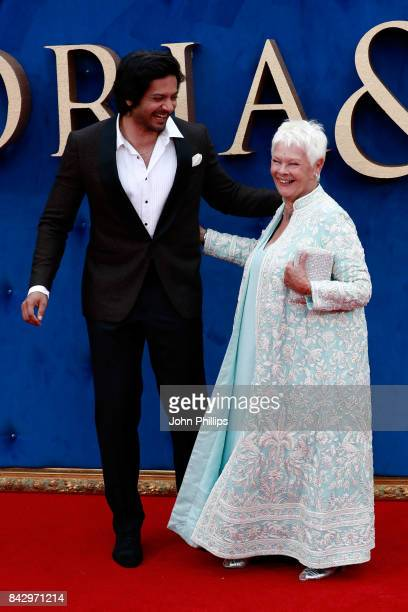 Actors Ali Fazal and Judi Dench attend the 'Victoria Abdul' UK premiere held at Odeon Leicester Square on September 5 2017 in London England