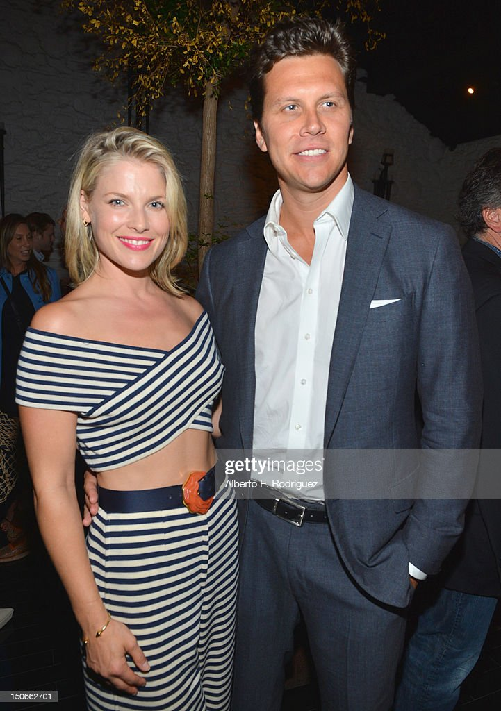 Actors <a gi-track='captionPersonalityLinkClicked' href=/galleries/search?phrase=Ali+Larter&family=editorial&specificpeople=208082 ng-click='$event.stopPropagation()'>Ali Larter</a> and Hayes McArthur attend the after party for the premiere of RADiUS-TWC's 'Bachelorette' at The ArcLight Cinemas on August 23, 2012 in Hollywood, California.