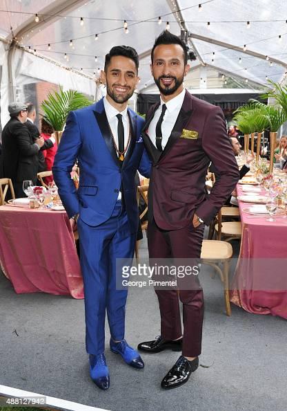 Actors Ali Momen and Ali Kazmi attend the Holt Renfrew cast dinner for 'Beeba Boys' during the 2015 Toronto International Film Festival at The...