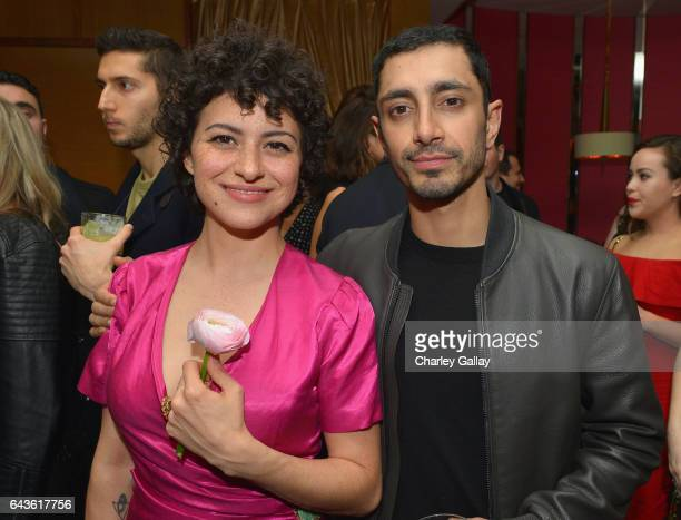 Actors Alia Shawkat and Riz Ahmed attend Vanity Fair and L'Oreal Paris Toast to Young Hollywood hosted by Dakota Johnson and Krista Smith at Delilah...