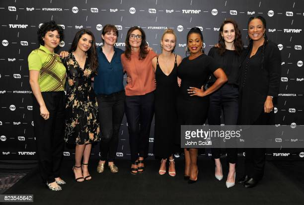 Actors Alia Shawkat from 'Search Party' Nasim Pedrad from 'People Of Earth' writer/coexecutive producer for 'Animal Kingdom' Megan Martin EVP of...