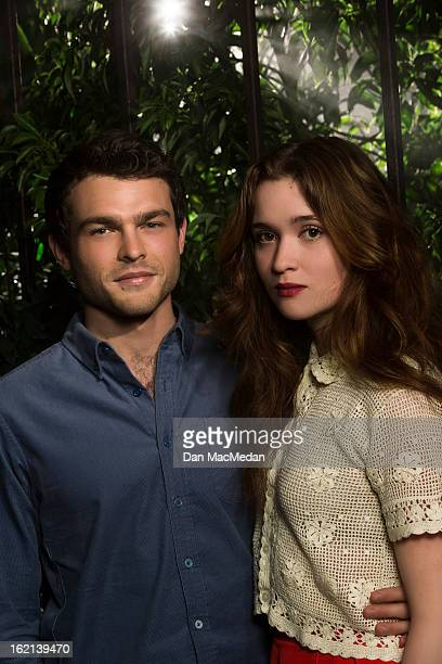 Actors Alice Englert and Alden Ehrenreich are photographed for USA Today on February 1 2013 in Beverly Hills California