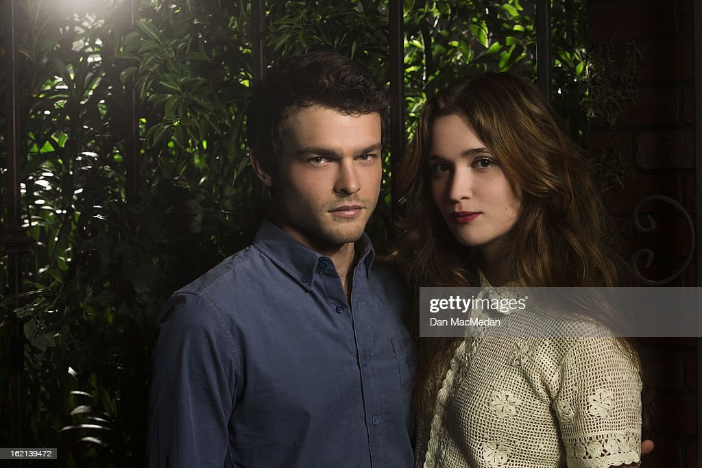 Actors <a gi-track='captionPersonalityLinkClicked' href=/galleries/search?phrase=Alice+Englert&family=editorial&specificpeople=616562 ng-click='$event.stopPropagation()'>Alice Englert</a> and <a gi-track='captionPersonalityLinkClicked' href=/galleries/search?phrase=Alden+Ehrenreich&family=editorial&specificpeople=4069445 ng-click='$event.stopPropagation()'>Alden Ehrenreich</a> are photographed for USA Today on February 1, 2013 in Beverly Hills, California.