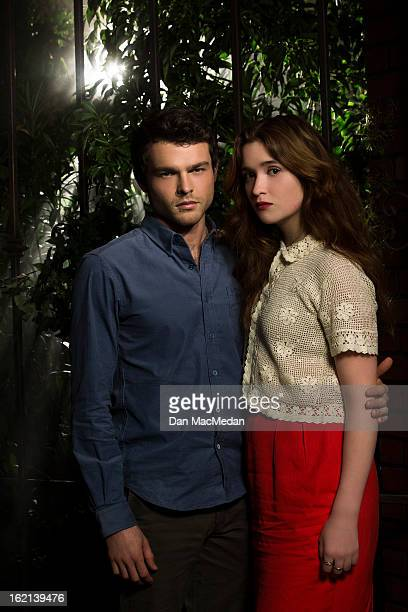 Actors Alice Englert and Alden Ehrenreich are photographed for USA Today on February 1 2013 in Beverly Hills California PUBLISHED IMAGE