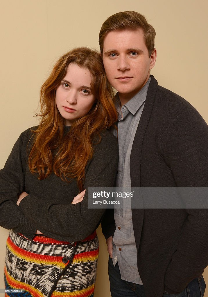 Actors <a gi-track='captionPersonalityLinkClicked' href=/galleries/search?phrase=Alice+Englert&family=editorial&specificpeople=616562 ng-click='$event.stopPropagation()'>Alice Englert</a> and Allen Leach pose for a portrait during the 2013 Sundance Film Festival at the Getty Images Portrait Studio at Village at the Lift on January 20, 2013 in Park City, Utah.