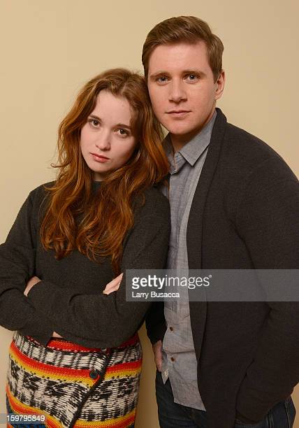Actors Alice Englert and Allen Leach pose for a portrait during the 2013 Sundance Film Festival at the Getty Images Portrait Studio at Village at the...
