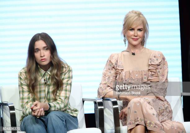 Actors Alice Englert and Nicole Kidman of 'Top of the Lake China Girl'' speak onstage during the Sundance TV portion of the 2017 Summer Television...