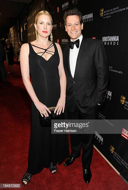 Actors Alice Evans and Iaon Gruffudd arrive at BAFTA Los Angeles 2011 Britannia Awards at The Beverly Hilton hotel on November 30 2011 in Beverly...