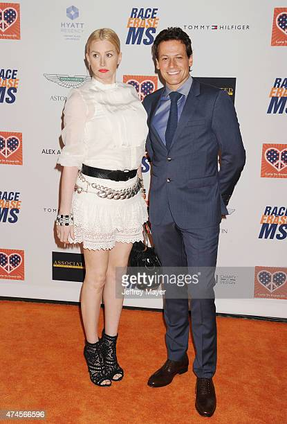Actors Alice Evans and Ioan Gruffudd arrive at the 22nd Annual Race To Erase MS at the Hyatt Regency Century Plaza on April 24 2015 in Century City...