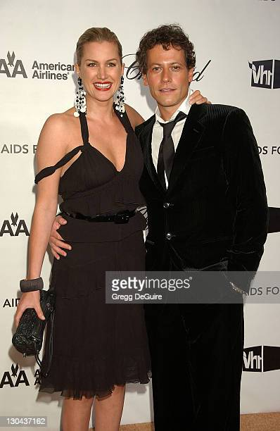 Actors Alice Evans and Ioan Gruffudd attend the 16th Annual Elton John AIDS Foundation Oscar Party at the Pacific Design Center on February 24 2008...