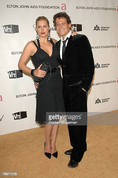 Actors Alice Evans and Ioan Gruffudd attend the 16th Annual Elton John AIDS Foundation Academy Awards viewing party at the Pacific Design Center on...