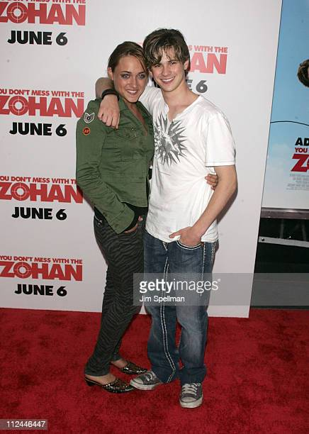 Actors Alice Kremelberg and Connor Paolo attends the 'You Don't Mess with the Zohan' New York Premiere on June 4 2008 at the Ziegfeld Theater in New...