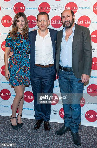 Actors Alice Pol Dany Boon and Kad Merad attends the 18th Annual City Of Lights City Of Angels Film Festival at Directors Guild Of America on April...