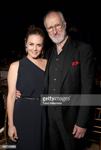 Actors Alicia Silverstone and James Cromwell attend PETA's 35th Anniversary Party at Hollywood Palladium on September 30 2015 in Los Angeles...