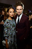 Actors Alicia Vikander and Eddie Redmayne attend the Film is GREAT Reception at Fig Olive on February 26 2016 in West Hollywood California