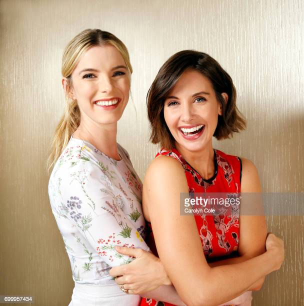 Actors Alison Brie and Betty Gilpin of Netflix's 'Glow' are photographed for Los Angeles Times on May 9 2017 in New York City PUBLISHED IMAGE CREDIT...