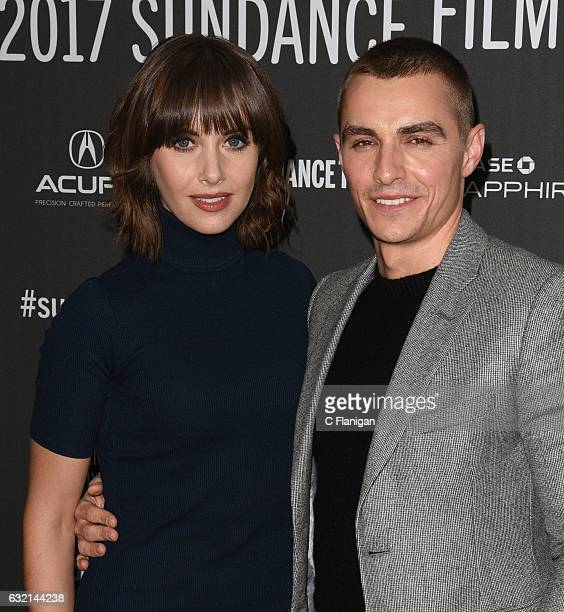 Actors Alison Brie and Dave Franco attend 'The Little Hours' premiere during day 1 of the 2017 Sundance Film Festival at Library Center Theater on...