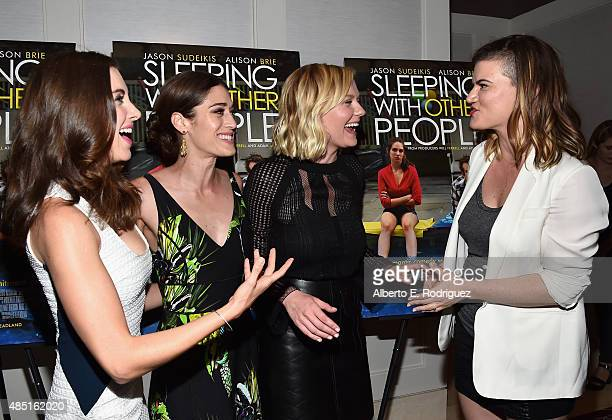 Actors Alison Brie Lizzy Caplan Kirsten Dunst and writer/director Leslye Headland attend the Tastemaker screening of IFC Films' 'Sleeping With Other...