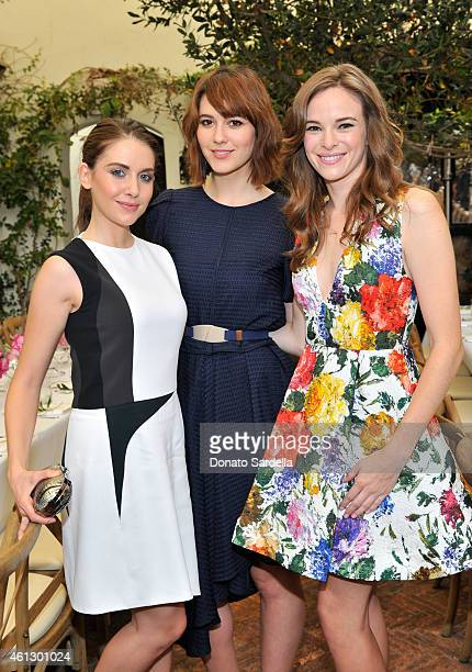 Actors Alison Brie Mary Elizabeth Winstead and Danielle Panabaker attend Lynn Hirschberg Celebrates W's It Girls with Piaget and Dom Perignon at AOC...