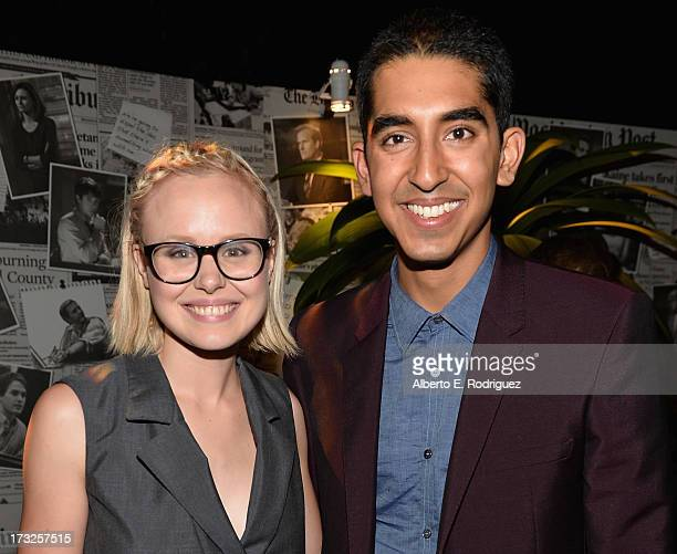 Actors Alison Pill and Dev Patel attend the after party for the premiere of HBO's 'The Newsroom' Season 2 at Paramount Theater on the Paramount...