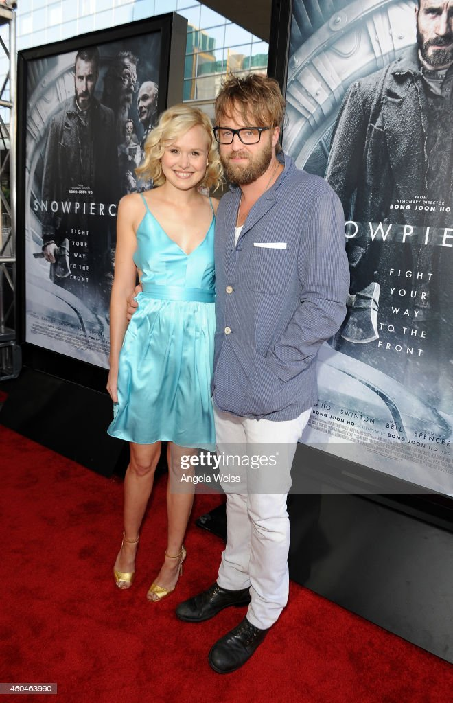 Actors <a gi-track='captionPersonalityLinkClicked' href=/galleries/search?phrase=Alison+Pill&family=editorial&specificpeople=585936 ng-click='$event.stopPropagation()'>Alison Pill</a> and Josh Leonard attend the opening night premiere of 'Snowpiercer' during the 2014 Los Angeles Film Festival at Regal Cinemas L.A. Live on June 11, 2014 in Los Angeles, California.