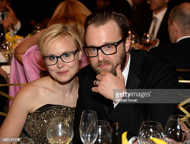 Actors Alison Pill and Joshua Leonard attend the 2014 AFI Life Achievement Award A Tribute to Jane Fonda at the Dolby Theatre on June 5 2014 in...
