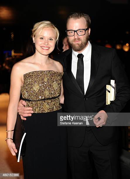 Actors Alison Pill and Joshua Leonard attend the 2014 AFI Life Achievement Award A Tribute to Jane Fonda after party at the Dolby Theatre on June 5...