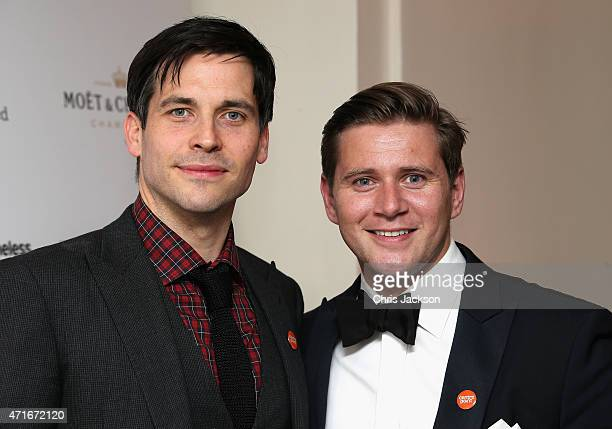Actors Allen Leech and Rob James Collier attend The Downton Abbey Ball at The Savoy Hotel on April 30 2015 in London England