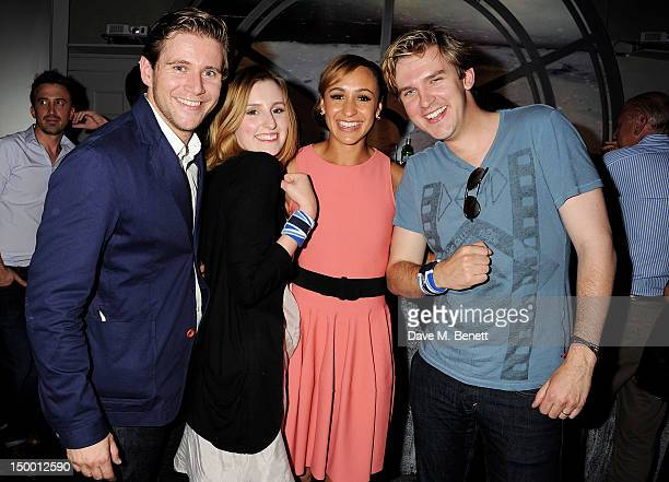 Actors Allen Leech Laura Carmichael Great Britain Olympic athlete Jessica Ennis and Dan Stevens attend 'Athletics Night' at OMEGA House OMEGA's...