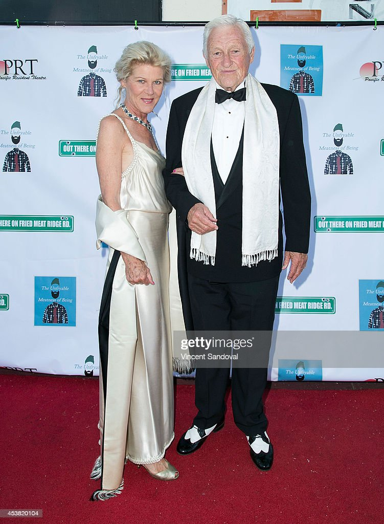 Actors Alley Mills and Orson Bean attend the premiere of 'Fried Meat 3: The Unfryable Meatness of Being' at Pacific Resident Theatre on August 18, 2014 in Venice, California.