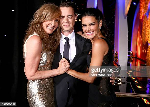 Actors Allison Janney Colin Hanks and Angie Harmon attend the 4th Annual Critics' Choice Television Awards at The Beverly Hilton Hotel on June 19...