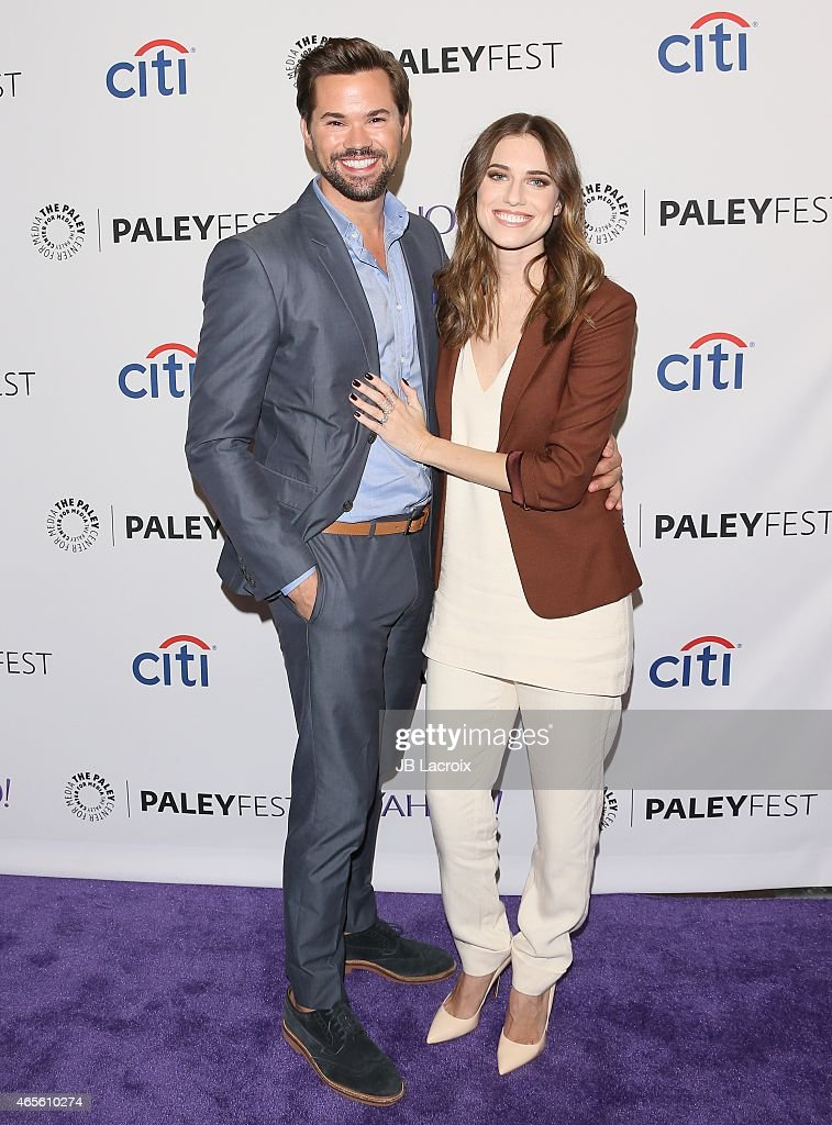 Actors Allison Williams and Andrew Rannells attend The Paley Center For Media's 32nd Annual PALEYFEST LA 'Girls' at Dolby Theatre on March 8 2015 in...