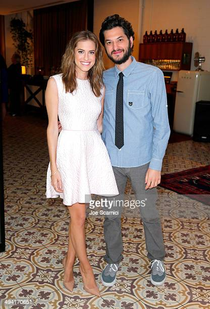 Actors Allison Williams and Ben Schwartz attend the Variety Studio powered by Samsung Galaxy on May 28 2014 in West Hollywood California