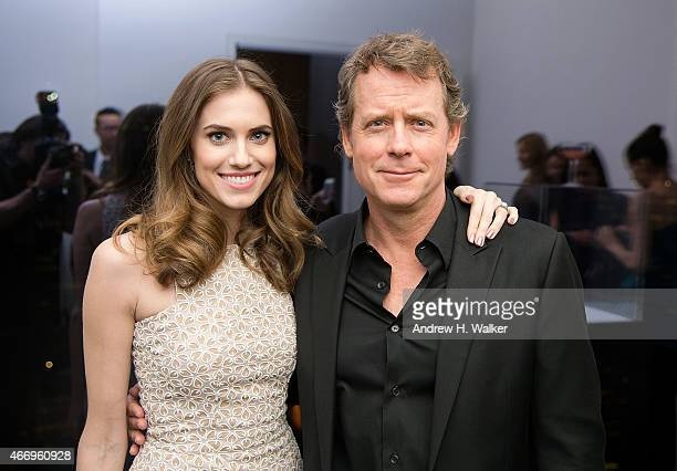 Actors Allison Williams and Greg Kinnear attend the SAMA Eyewear launch of deCODE Los Angeles at Baccarat New York on March 19 2015 in New York City