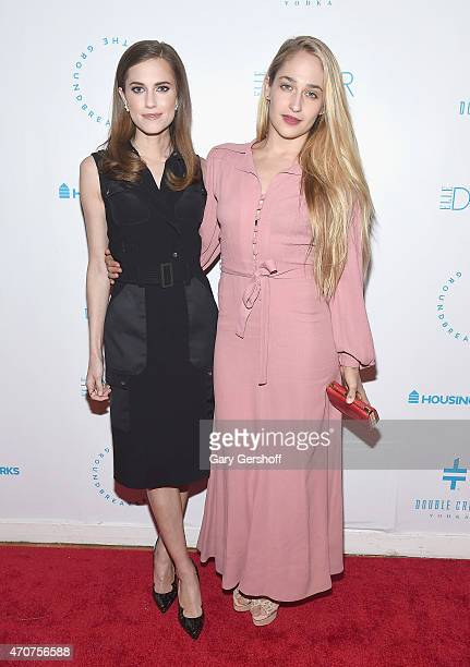 Actors Allison Williams and Jemima Kirke attend the 2015 Housing Works Groundbreaker Awards at Metropolitan Pavilion on April 22 2015 in New York City