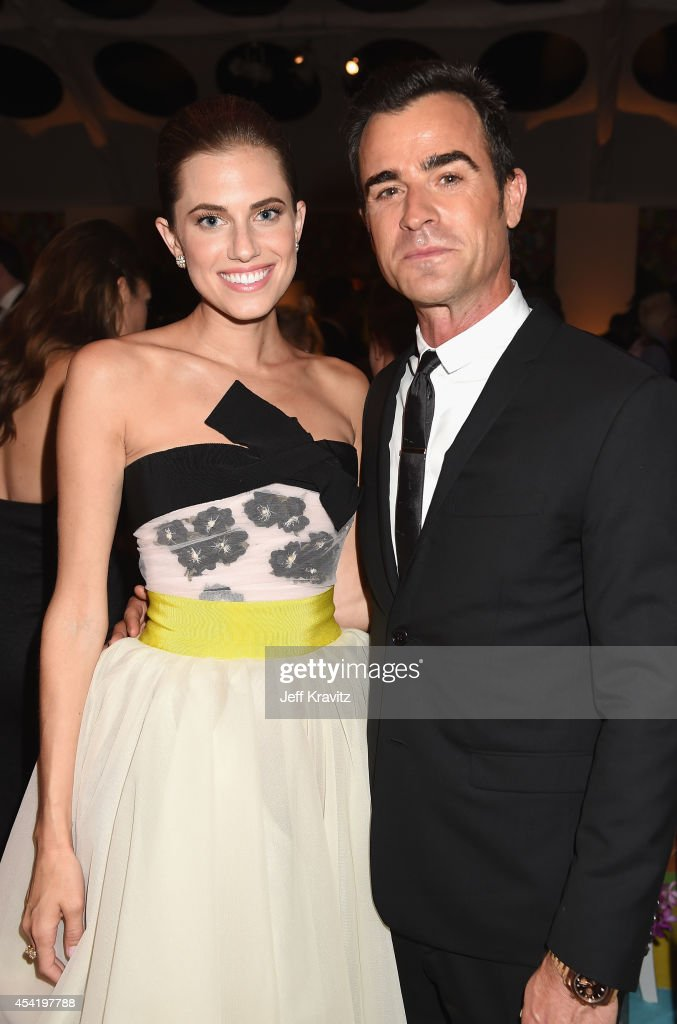 Actors Allison Williams and Justin Theroux attend HBO's Official 2014 Emmy After Party at The Plaza at the Pacific Design Center on August 25 2014 in...