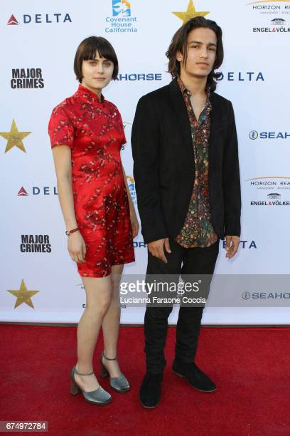Actors Ally Ioannides and Aramis Knight attend Covenant House Gala 2017 at The Globe Theatre on April 29 2017 in Universal City California