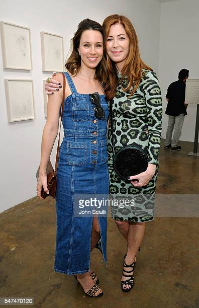 Actors Alona Tal and Dana Delany attend Landon Ross ARTIfACT exhibition opening at LAXART on July 14 2016 in Los Angeles California