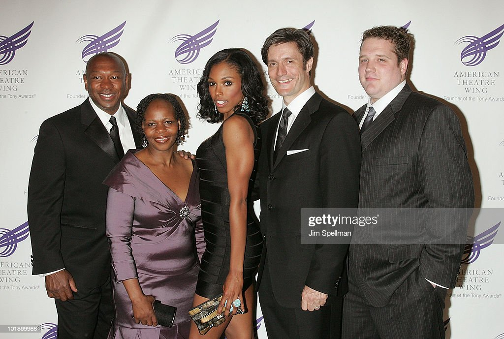 Actors Alton White, Tshidi Manye, Chauntee Schuler, Gareth Saxe and Ben Jeffrey attend the 2010 American Theatre Wing Spring Gala at Cipriani 42nd Street on June 7, 2010 in New York City.