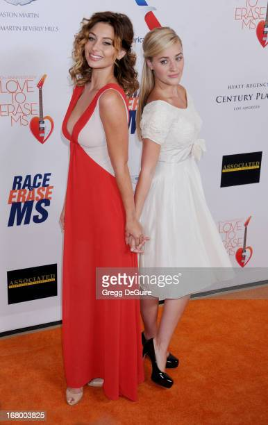 Actors Aly Michalka and AJ Michalka arrive at the 20th Annual Race To Erase MS Gala 'Love To Erase MS' at the Hyatt Regency Century Plaza on May 3...
